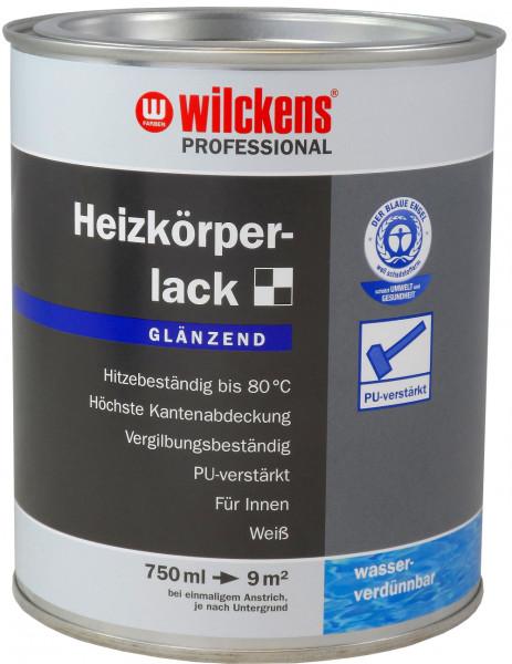Wilckens Professional Heizkörperlack glänzend, Weiß 750 ml