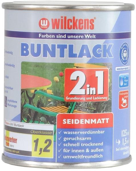 Wilckens Buntlack 2in1 seidenmatt, Perleffekt Grün 0,125 l