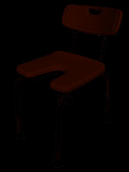 GAH Alberts Duschstuhl U-Form höhenverstellbar Kunststoff, weiß