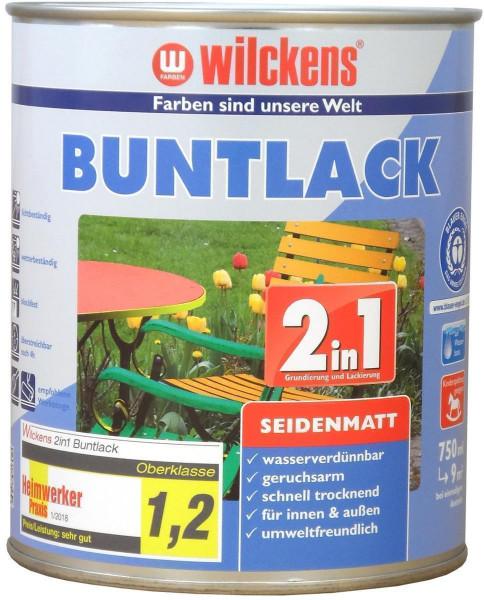 Wilckens Buntlack 2in1 seidenmatt, RAL 1021, Rapsgelb 0,375 l