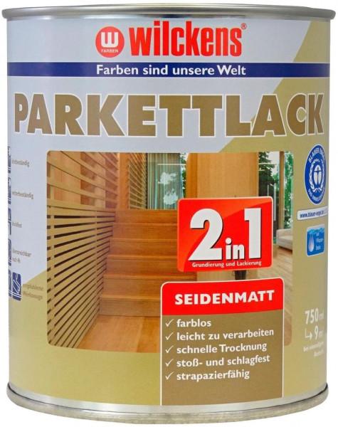 Wilckens Parkettlack 2in1 seidenmatt, Farblos 2,5 l