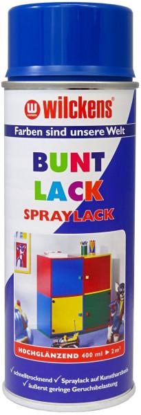 Wilckens Spray Lack Hochglanz, RAL 5010, Enzianblau 0,4 l